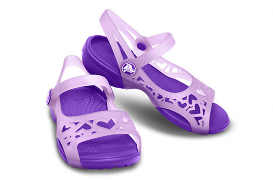 CHILDREN'S SHOES SANDALS CROCS ADRINA HEARTS 14095 IRIS
