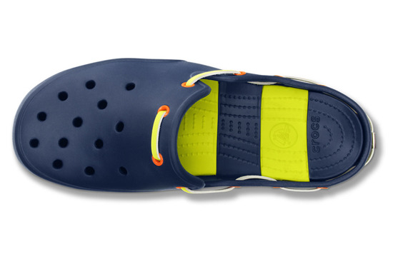 MEN'S SHOES FLIP-FLOPS CROCS BEACH LINE 15334 NAVY/CITRUS