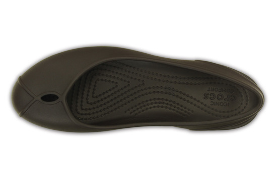 WOMEN'S SHOES CROCS OLIVIA II FLAT 202826 ESPRESSO