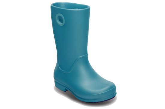 KALOSZE CROCS WELLIE GIRLS AQUA 12473