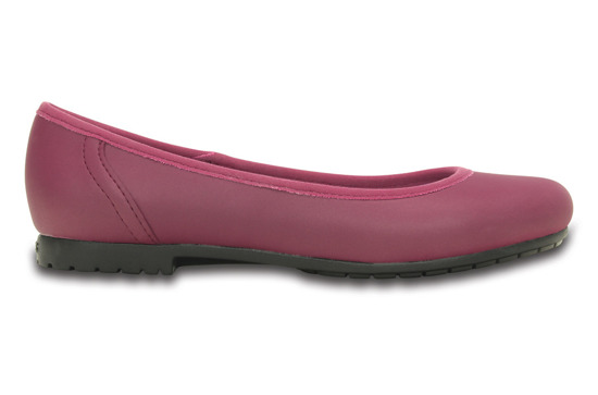 CROCS SHOES BALLERINA COLORLITE PLUM 201581