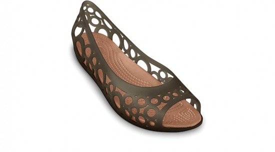 WOMEN'S SHOES BALLERINA CROCS ADRINA FLAT 11238 ESPRESSO