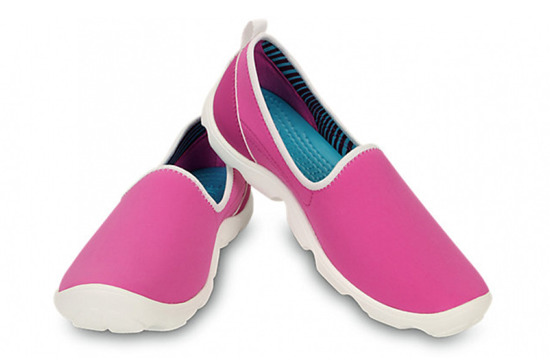 WOMEN'S SHOES CROCS DUET BUSY DAY SKIMMER 14698 VIBRANT VIOLET