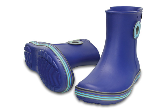 WOMEN'S SHOES  WELLINGTONS CROCS JAUNT GRAPHIC SHORTY 202317 CERULEAN
