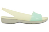 WOMEN'S SHOES CROCS COLOR BLOCK FLAT 200032 SEA FOAM