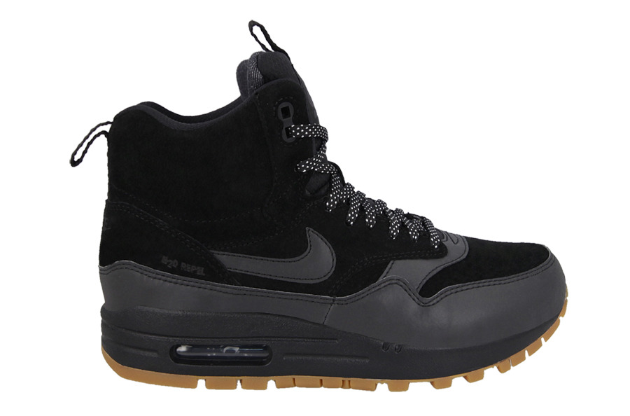 buty nike air max 1 mid sneakerboot czarne